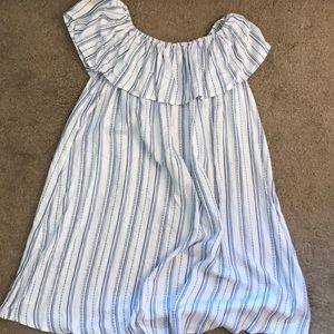 Striped off the shoulder Dress